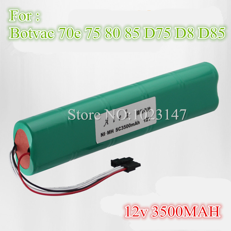 1 piece NI-MH 12V 3500mAh Replacement Battery for Neato Botvac 70e 75 80 85 D75 D8 D85 Robot Cleaner battery 10pcs replacement hepa dust filter for neato botvac 70e 75 80 85 d5 series robotic vacuum cleaners robot parts