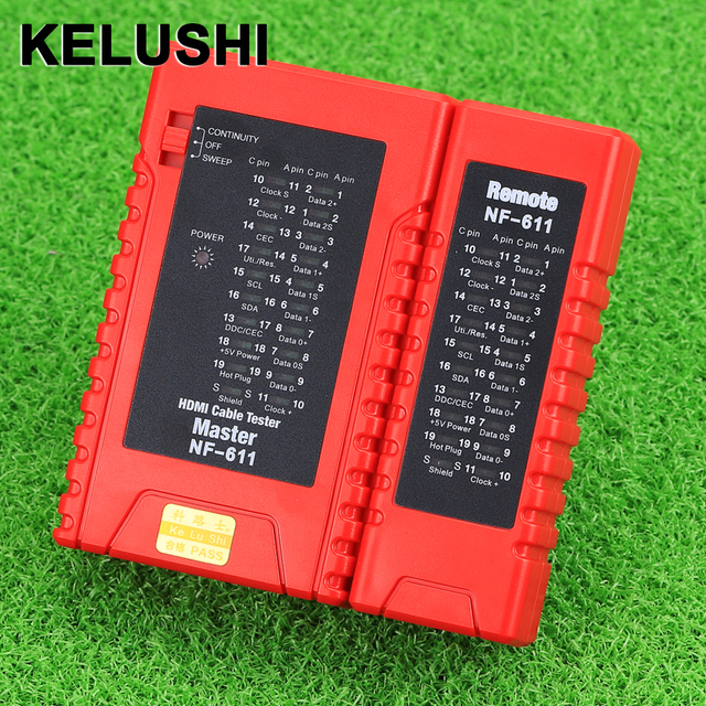 KELUSHI New Fiber Optical  HDMI Master NF-611 High Definition HDMI Network Cable Tester HDMI Configuration