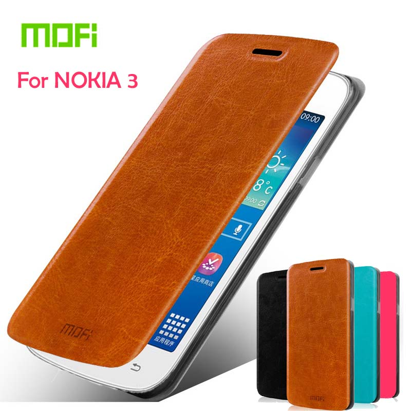 Mofi Leather Stand Case For Nokia Lumia 3 5.0 Hight Quality Cell Phone Case Cover For Nokia Lumia 3 Leather case