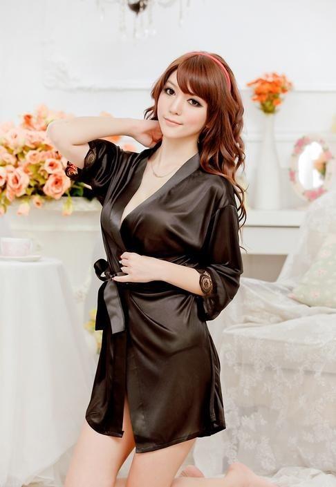 Одежда для сна Блестящий Фиолетовый кардиган банный халат, пижама 10318