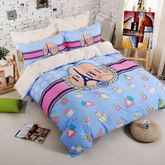 100  Cotton Designer Bedding Set Kawaii Girls Boys Kids Bedding Queen Size Anime  Bed. 100  Cotton Designer Bedding Set Kawaii Girls Boys Kids Bedding