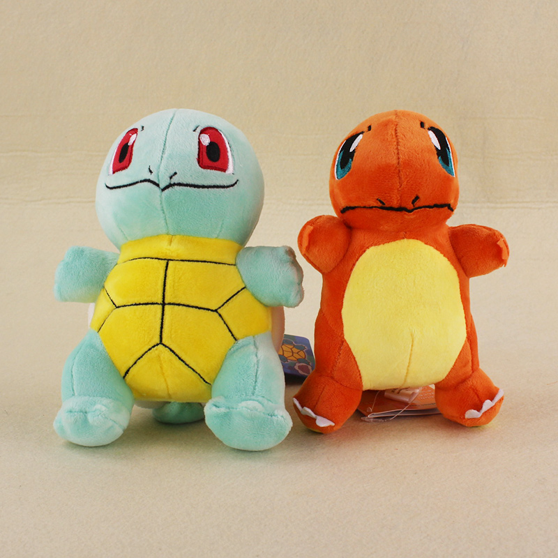 17cm Japan Anime Pickachu Go Squirtle Charmander Doll Stuffed Soft Plush Toys Doll Kids Gifts Free