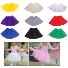 Tutu Skirt Ballet Dance Costume Baby Kid Girl Cute Fluffy Tulle Pettiskirt  Kids Princess Skirts