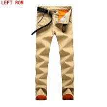 Winter Corduroy trousers men thick velvet business casual pantalon homme male warm fleece pants Men Work Wear Pants Plus Velvet