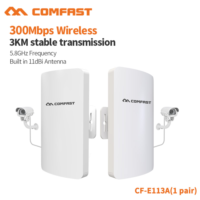 COMFAST 300Mbps WiFi Repeater High Gain 1Pair 3KM Stable Trsnsmission Rate 5Ghz Anti interference Outdoor CPE
