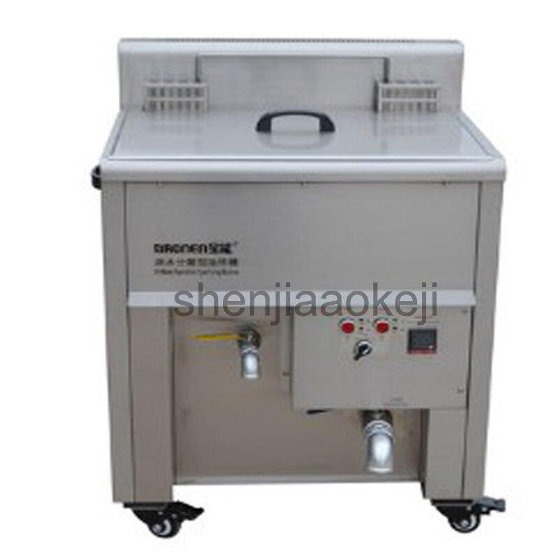 Коммерческие нержавеющая сталь машины жарки электрическая фритюрница разделения нефти и воды электрическая сковорода оладьи machine1pc