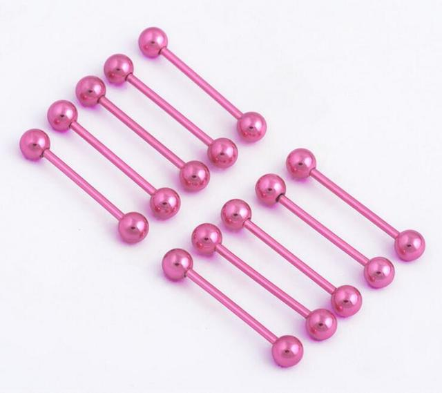 4 Piece/lot Industrial Barbell Surgical Stainless Steel tongue ...