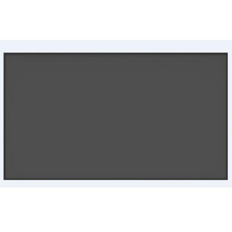 F2HALR 16:9 HDTV 4K 3D Anti-luz rechazo negro cristal Ultra delgado Pantalla de proyector de marco fijo para proyectores normales Vidrio templado para zte Blade A330 A521 A520 A520C L8 A6 A610 V7 Lite V9 Vita película protectora de pantalla