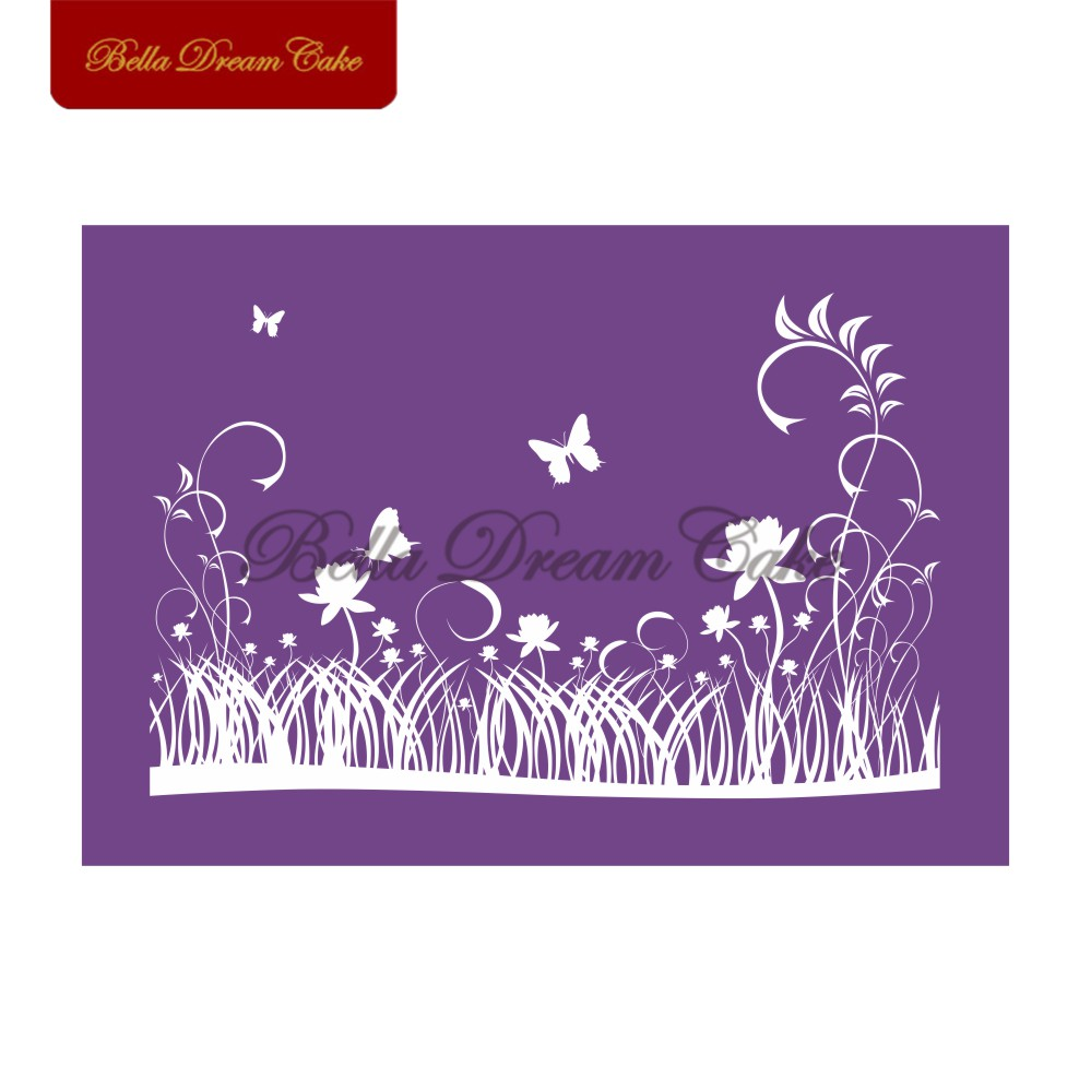 Open Field Cake Mesh Stencils Cake Lace Moulds Decorating Tools Baking Accessories Bakeware
