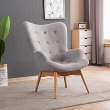 Mid Century Modern Relaxed Armchair Contour Chair Living Room Furniture Muted Fabric Arm Chair Fabric Upholstery Accent Chair(China)