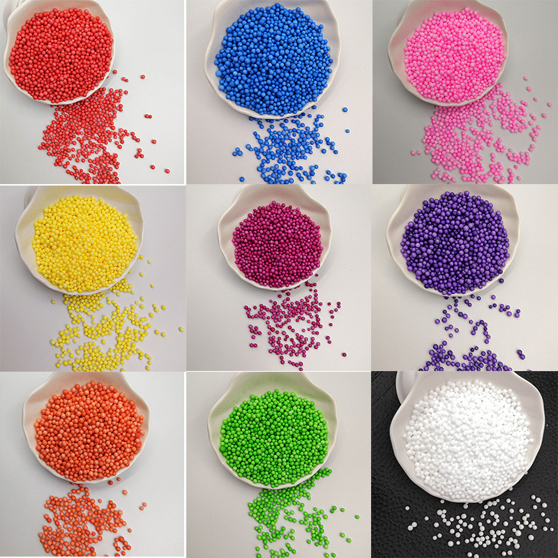 1 Pack Colorful Foam Beads Supplies Balls Snow Mud Particles Accessories Slime Balls Small Tiny Foam Beads Filler For 2 4mm in Ball Ornaments from Home Garden