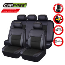 Car-pass  Universal Car Seat Cover Leather Full Set For Bmw F10 x5 e70 e53 x4 f11 x3 e83 x1 f48 e90 x6 e71 f34 e30