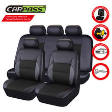 Car-pass Universal Car Seat Cover Leather Full Set For Bmw F10 x5 e70 e53 x4 f11 x3 e83 x1 f48 e90 x6 e71 f34 e70 e30(China)