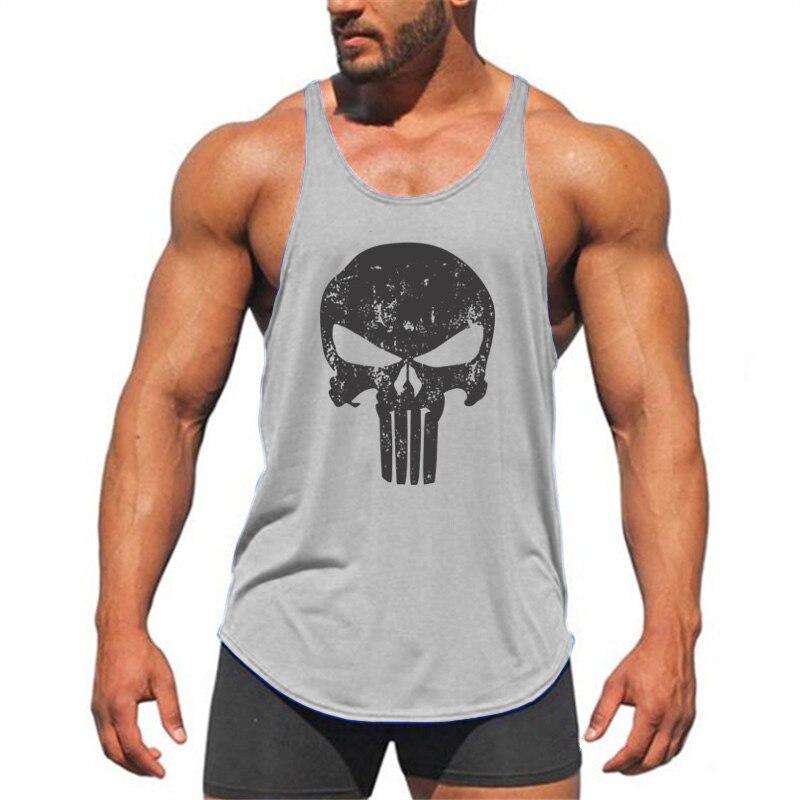 f604afd8c7be02 Muscleguys Brand Animal Gyms Singlets Mens Tank Tops Shirt Beast skulls  Bodybuilding Equipment Fitness Stringer Tanktop