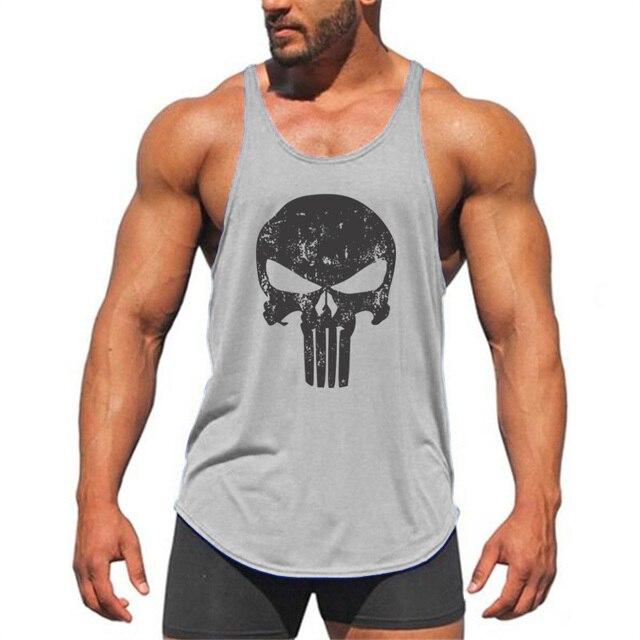 7fb029224c Marke Stringer Tank Top Männer Bodybuilding Kleidung und Fitness Herren  Ärmelloses Shirt Westen Baumwolle Singuletts Muscle