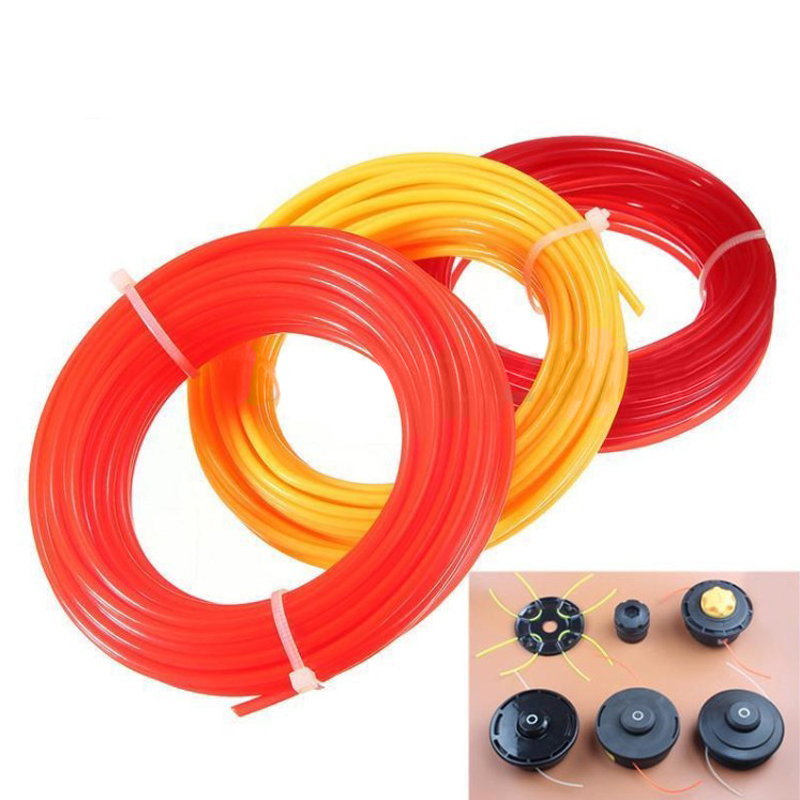 15m*2.4mm Nylon Strimmer Line Garden Cord Wire String Grass Trimmer Line For Robot Lawn Mower Grass Cutter Trimmer Line ...