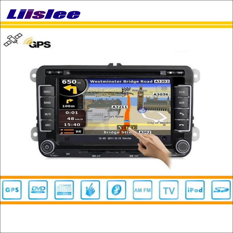 Liislee для Volkswagen VW Jetta 2005 ~ 2012 GPS nav Navi Географические карты навигации Системы Радио ТВ DVD BT 3G WI-FI HD Экран мультимедиа Системы