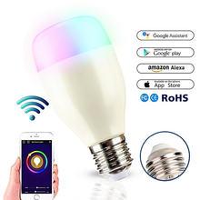 E27 rgb 7 Вт wifi Светодиодная умная лампа шариковая с регулируемой