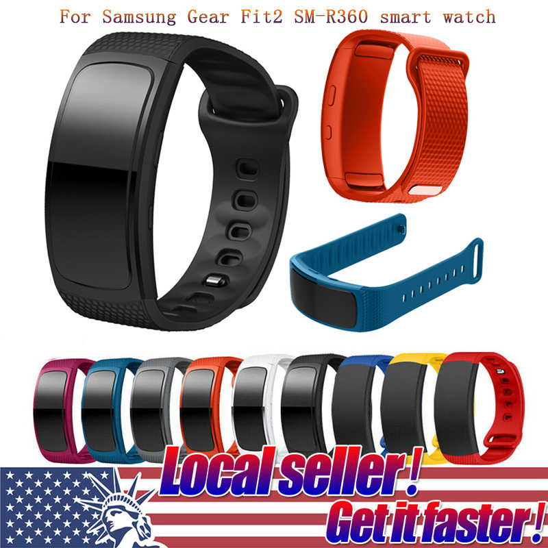 Silicone Sport Watch Band For Samsung Gear Fit2 Pro Fitness Watch Band Wrist Strap For Samsung Gear Fit 2 SM-R360 Bracelet Strap