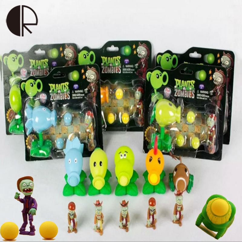 1Pcs 14 Styles PVZ Plants vs Zombies Peashooter PVC Game Figures for Children Gifts with Retail Box Funny Play Kid Toys HT3476 year cotton long sleeves baby kids children suits boys pajamas christmas girls clothing sets clothes