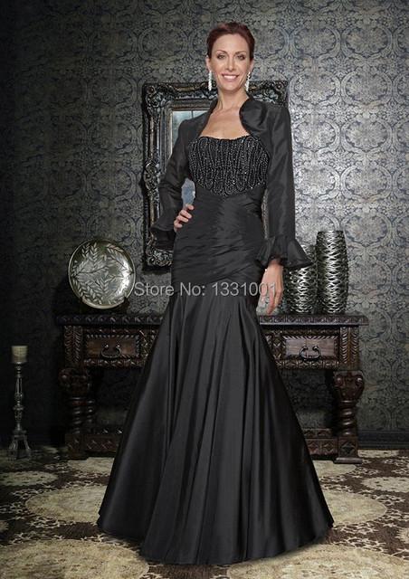 Vestido Longo Para Festa Plus Size mãe dos Vestidos De noivo preto madrinha Vestido 2015 New Arrival Vestidos De Fiesta