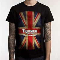 Triumph Motorcycle Biker Custom Mens T Shirt 100 Cotton Short Sleeve Print Tee T Shirt Black