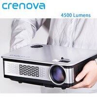 CRENOVA видеопроектор 4500 люмен ОС Android 6,1 для Full HD 1080 p домашний Театр проектор с WI FI мультимедийный проектор с технологией Bluetooth