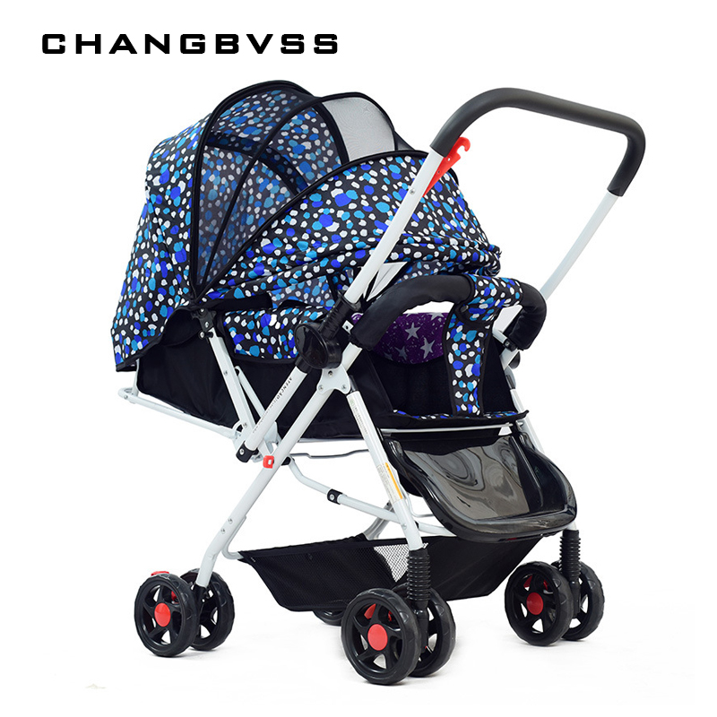 New High Landscape Portable Two-way Baby Stroller,Sit and Lie Baby Carriage for Newborn,Foldable Baby Pram Pushchair Kinderwagen цена и фото