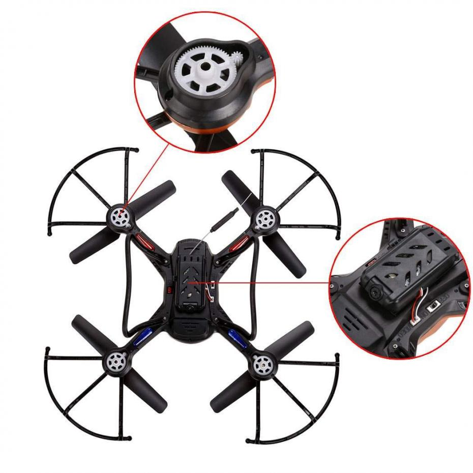 Wifi Rc Quadcopters Drones With Hd Camera Flying Dron Helicopter Jjrc H12w Quadcopter Drone Dengan Kamera 2mp 720p Red Remote Control Hexacopter Toys Copters In Helicopters From Hobbies On