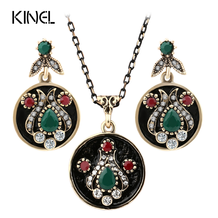 Aliexpress.com : Buy Fashion Vintage Jewelry Sets Gold ...
