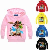 Yeni Karikatür Okyanus Karakter Baskı Desen Çocuk Erkek Tişörtü Pamuk Çocuk Kız Hoodies Giyim Sonbahar Çocuk Dış Giyim