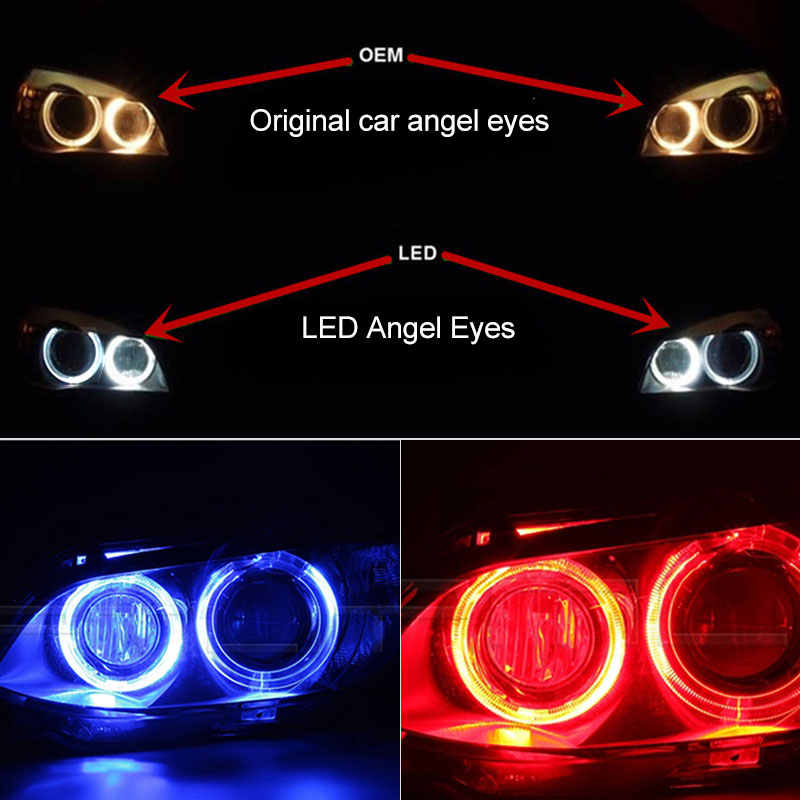 2x H8 CANbus 20W for XML-T6 Chips LED Angel Eye Marker Lights Bulbs For BMW E60 E61 E70 E71 E90 E92 E93 X5 X6 Z4 M3 2008-2014