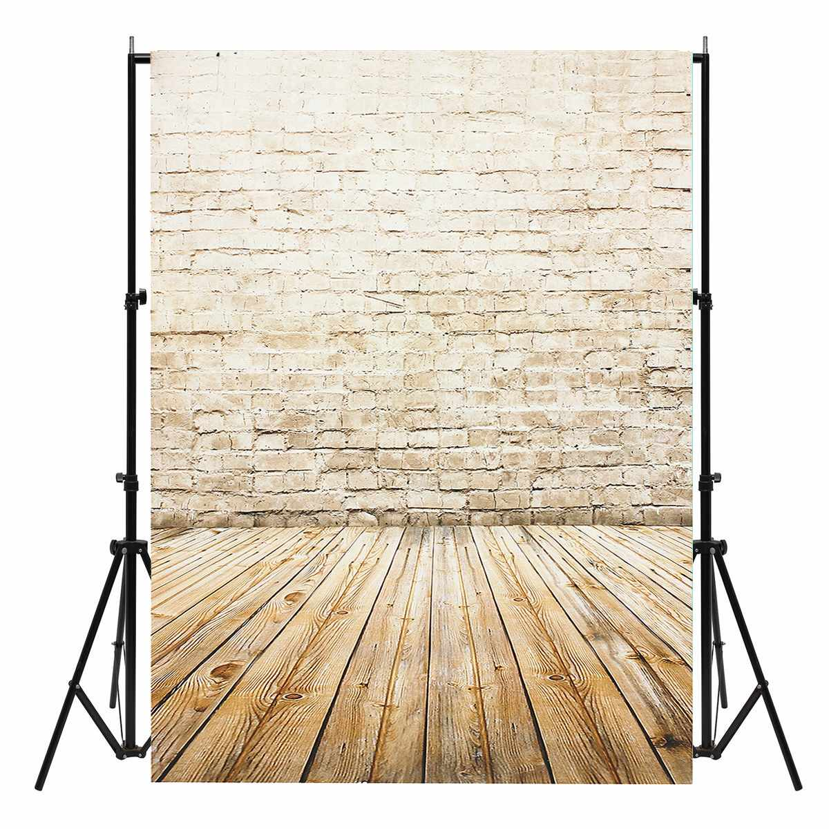 2017 New Arrival 3X5ft Vinyl Photography Background Wood Floor Brick Backdrops Photo Studio Props shengyongbao 300cm 200cm vinyl custom photography backdrops brick wall theme photo studio props photography background brw 12