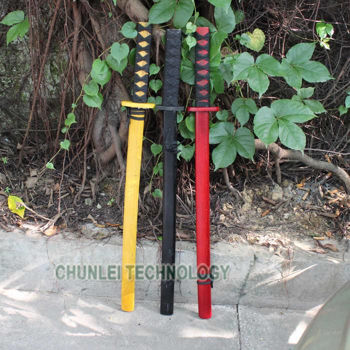 28 ''цветная японская самурайская катана, деревянная Практическая Меч Bokken Kendo из дерева для студентов, кунг-фу