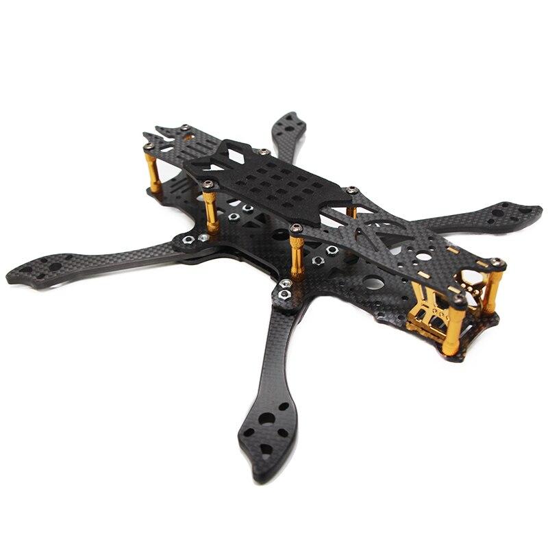 FLYWOO Mr. Croc 5 pouces 225mm cadre Freestyle FPV Drone cadre de course Kit 125g HX Long X Modes pour tour volante FC avec sangle de batterie