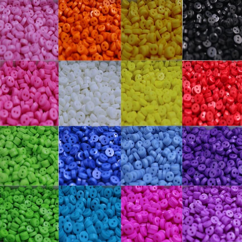 6mm Liten storlek färgstarka sömnadsknappar Scrapbooking tillbehör - Konst, hantverk och sömnad