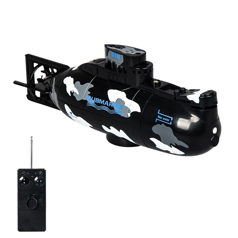 Mini Remote Control Simulation Submarine Model Camouflage RC Under Water Boat Submarine Bathtub Pools Toy Bath Toys for Kids-in RC Submarine from Toys & Hobbies