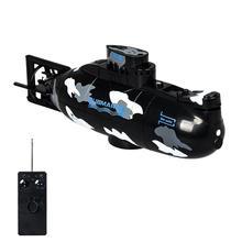 Mini télécommande Simulation sous marin modèle Camouflage RC sous leau bateau sous marin baignoire piscines jouet bain jouets pour enfants