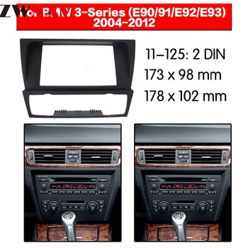 Car DVD Player frame For 2004-2012 BMW 3 E90-E93 2DIN Auto Radio Multimedia NAVI fascia image