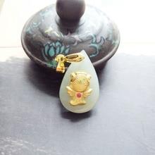 yu xin yuan natural he tian jade 18k gold tian shi fashion charm women men pendant fine jewelry yuan tian xml update language