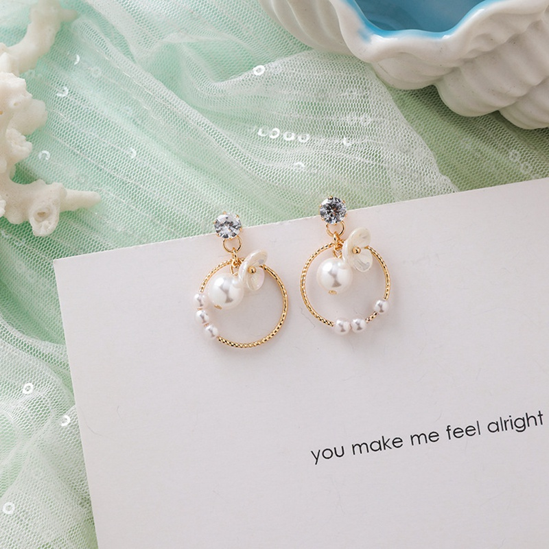 MENGJIQIAO New Korea Japan Elegant Shell Starfish Drop Earrings For Women Sweety Simulated Pearl Pendientes Girl Party Jewelry 15