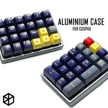 Cassa In Alluminio anodizzato per cospad xd24 tastiera personalizzata duplice scopo di caso con CNC Cono In Alluminio Piedi
