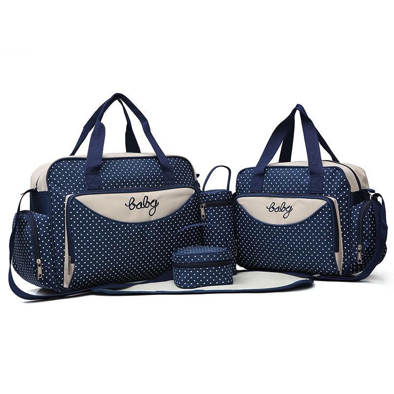 5 sztuk Wielofunkcyjna duża pojemność Matka torba dla pieluch dla niemowląt Torba podróżna Moda dla kobiet torby na pieluchy