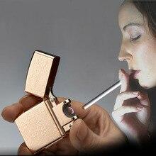 โลหะUSBไฟฟ้าUSB Arcเบาไม่มีบิ๊กเสียงรบกวนบุหรี่ซิการ์W Indproofเบาทอง