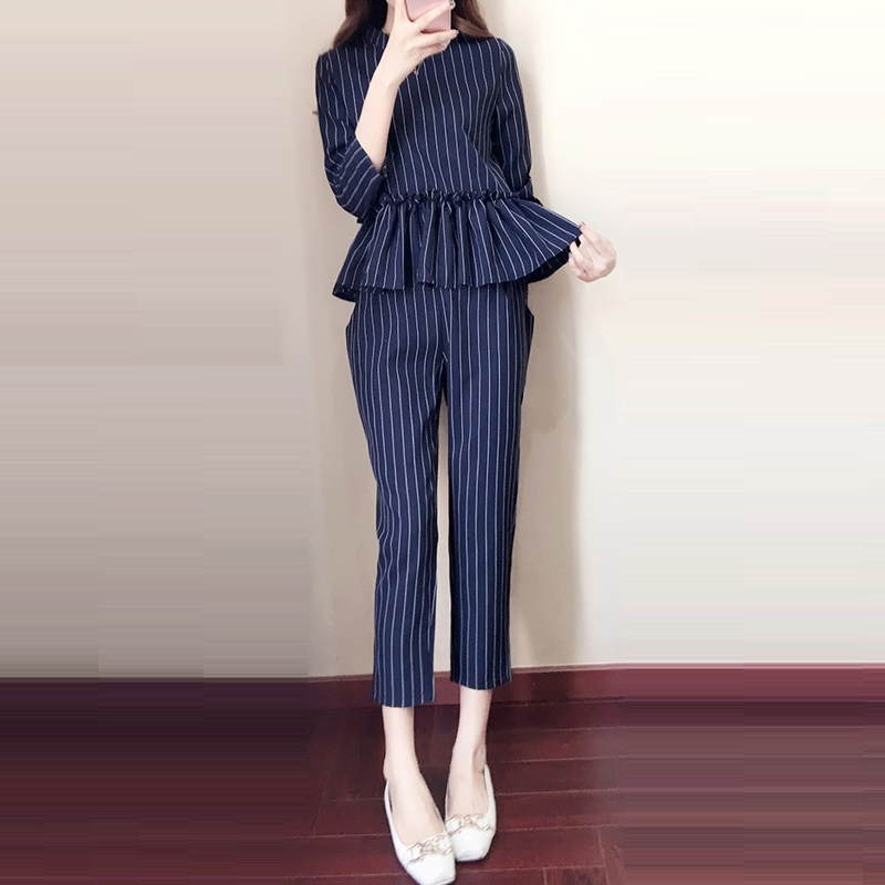 Suit Donne stile Elegante Casual 2018 Fashion Stripe Coreano Pant xpxwv