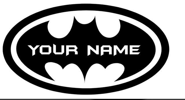 Fashion Removable Personalized Batman Custom Name Text Wall Art