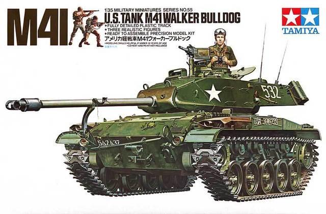 Tamiya modelo 1/35 escala modelos militares # 35055 eua M41 Walker Bulldog