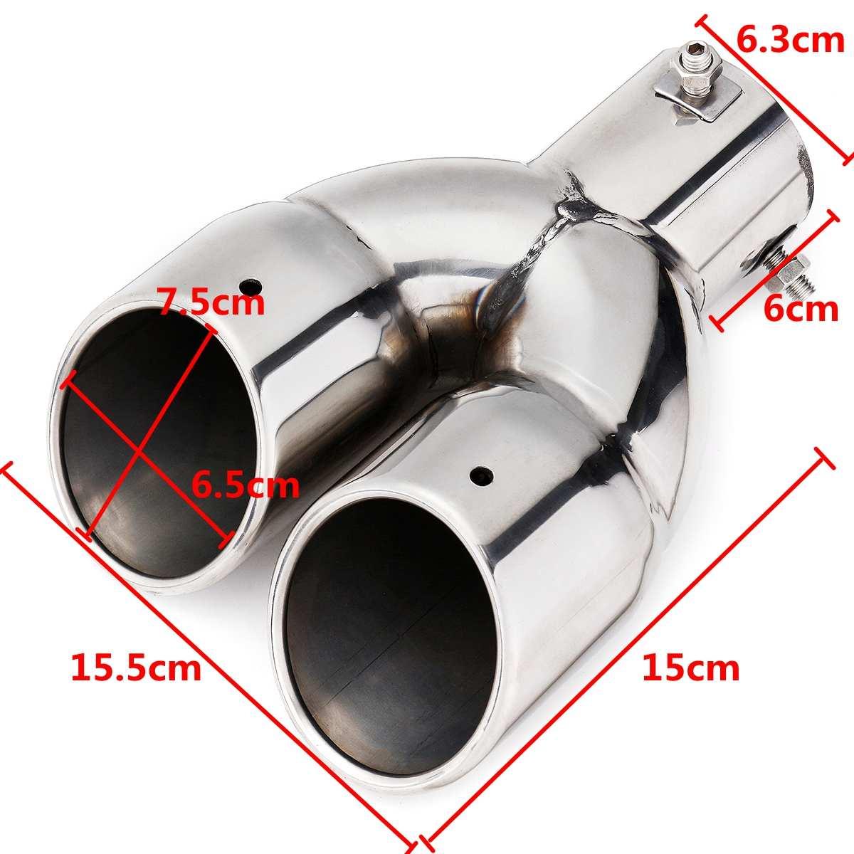 Silenciador de ponta de escape, 63mm, universal,