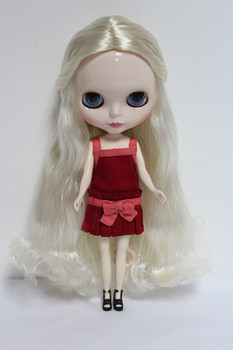 Blygirl Blyth doll White curly hair No.36087 normal body 7 joints 1/6 body DIY dolls supple for their makeup