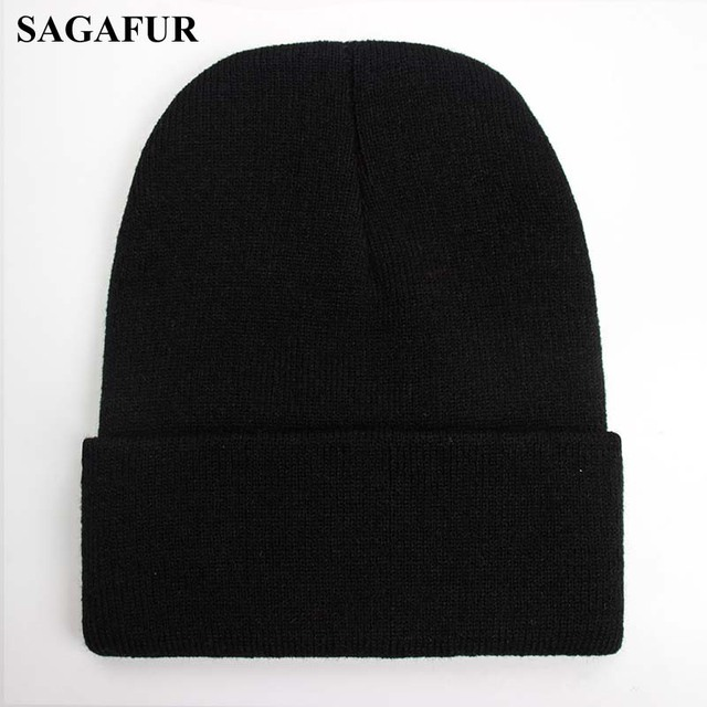 Solid Beanie Wool Blends Soft Warm Knitted Cap 3